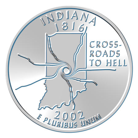 2002 indiana parody quarter nickel copper