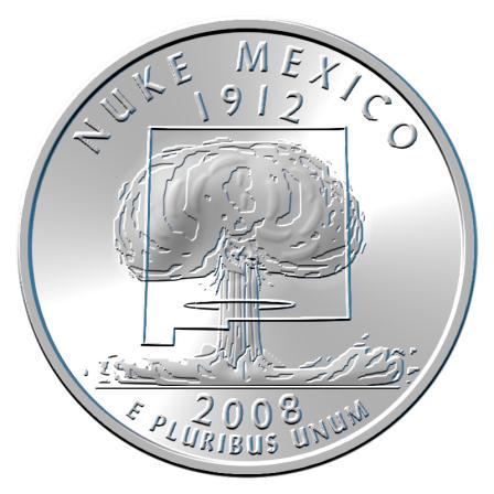 2008 New Mexico parody quarter, nickel-copper