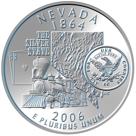 2006 Nevada Quarter Dollar Coin Cufflinks The Silver State Reno Carson City Las Vegas