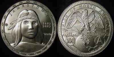 Una 2007 Jamestown Pocahontas 100 Ameros Silver Satin