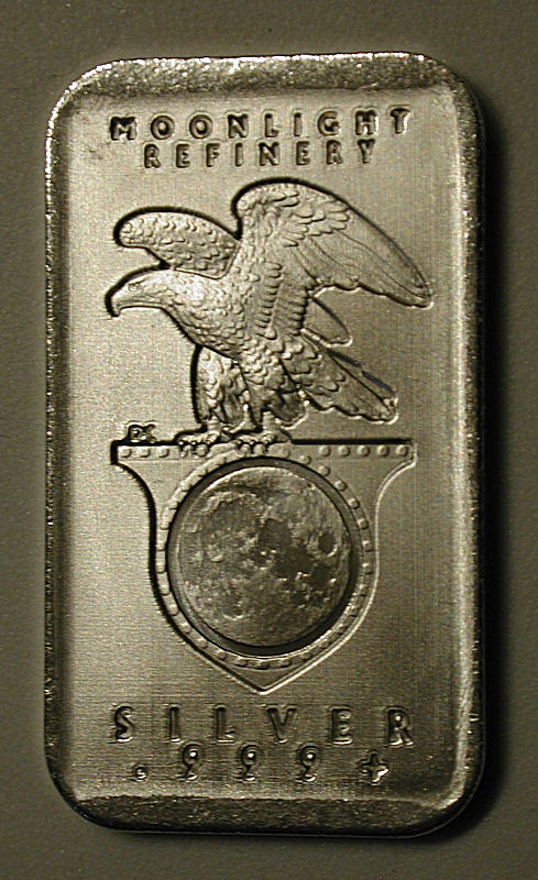 Moonlight Refinery 1 Troy Oz 999 Silver Bar Quot Mar 2013