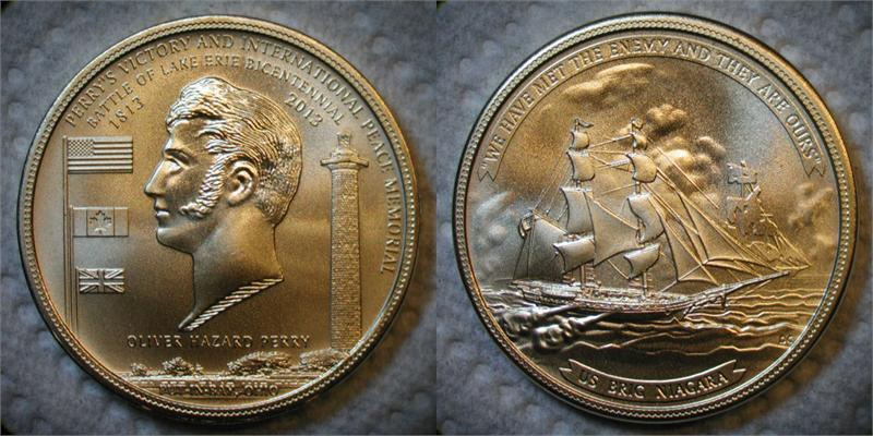 1813 2013 Battle Of Lake Erie Bicentennial Medal Set Of 3