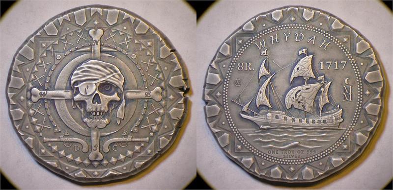 2017 Whydah Pirate Ship 300th Anniversary Silver Cob