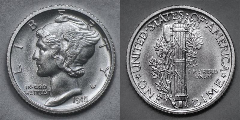 Quot 1915 Quot Winged Liberty Head Quot Mercury Quot Silver Fantasy Date