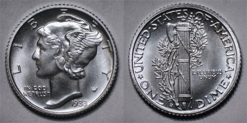 Quot 1933 D Quot Winged Liberty Head Quot Mercury Quot Silver Fantasy