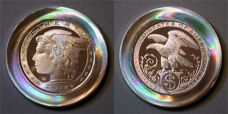 2012 Quot Exchange Currency Quot Concept Barter Token 50mm 2 Troy